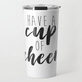 Cup of Cheer Holiday Minimalism Travel Mug