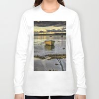 rowing Long Sleeve T-shirts featuring Sheephaven bay by cmphotography