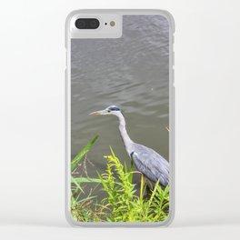 Beautiful Blue Heron Clear iPhone Case