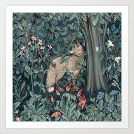 William Morris Forest Fox Tapestry Art Print