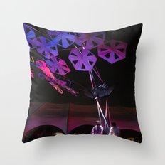 purple paper ponder Throw Pillow