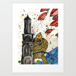 Honey Monster Art Print