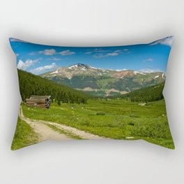 Tenmile Mountain Range from Mayflower Gulch Rectangular Pillow