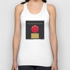 No003 My 2001 A space odyssey 2000 minimal movie poster Unisex Tank Top