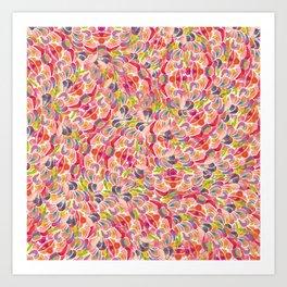 pink petal swirl Art Print