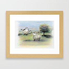 Baa-Zen Framed Art Print