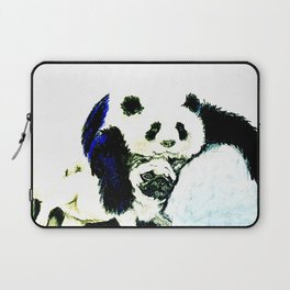 Pug and Panda after food Laptop Sleeve