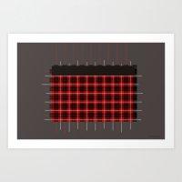 Construction red Art Print