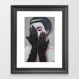 Demon Hands Framed Art Print