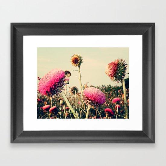 Flower World! Framed Art Print