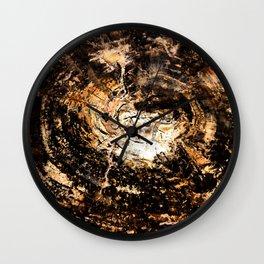 Petrified Tree Rings II Wall Clock