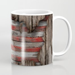 American Wood Flag Coffee Mug