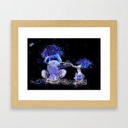 Mushroom Hookah Framed Art Print