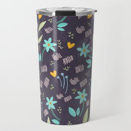 Azzurro flowers pattern  Travel Mug