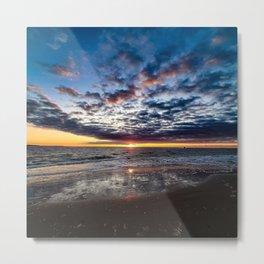 Sunrise beach on the coast Metal Print