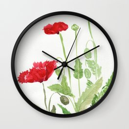 Blooms and Buds Wall Clock