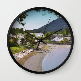EASTSOUND ON ORCAS ISLAND IN THE PACIFIC NORTHWEST Wall Clock