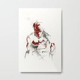 Red Hood - Splatter Artwork 2 Metal Print