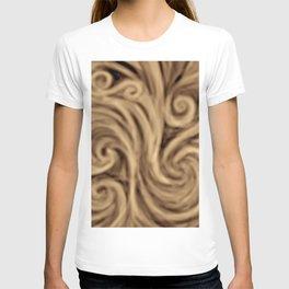 bohemian burnt sienna swirl pattern T-shirt