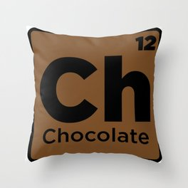 Chocolate Element Throw Pillow