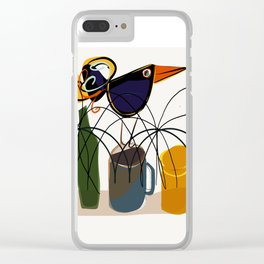The bouncing bird Clear iPhone Case