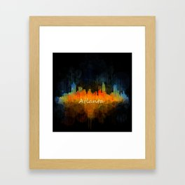 Atlanta City Skyline UHq v4 Framed Art Print