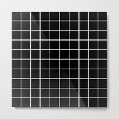 Black Grid  Metal Print