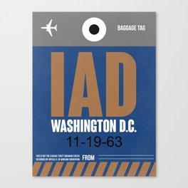 IAD Washington Luggage Tag 2 Canvas Print