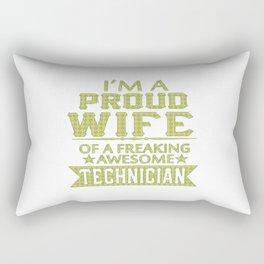 I'M A PROUD TECHNICIAN'S WIFE Rectangular Pillow
