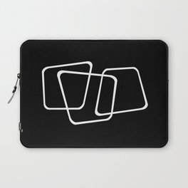 Simply Minimal 2 - Abstract, black and white Laptop Sleeve