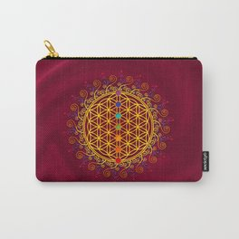 FLOWER OF LIFE, CHAKRAS, SPIRITUALITY, YOGA, ZEN, Carry-All Pouch