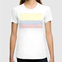 colombia T-shirts featuring digital Flag (Colombia) by seb mcnulty