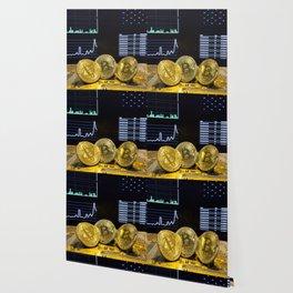 Bitcoin trio circuit market charts clean Wallpaper