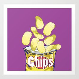 Potato Chips : Junkies Collection Art Print