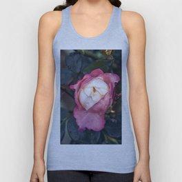 Pink Rose Poetry Unisex Tank Top
