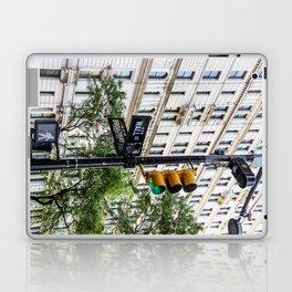 New York Traffic Lights & Signs at Wall Street / Broadway Junction Laptop & iPad Skin
