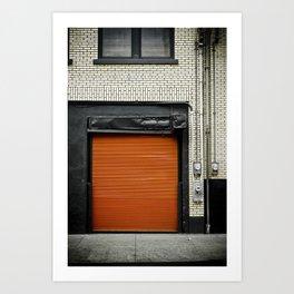 Red Metropolitan Garage Art Print