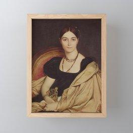Jean-Auguste-Dominique Ingres - Portrait of Madame Devaucay Framed Mini Art Print