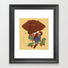 Strawberry Picker Framed Art Print