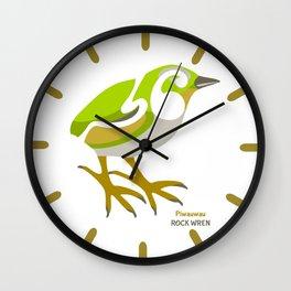 Rock Wren New Zealand Bird Wall Clock