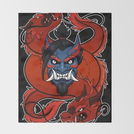 Demonic Archer Throw Blanket