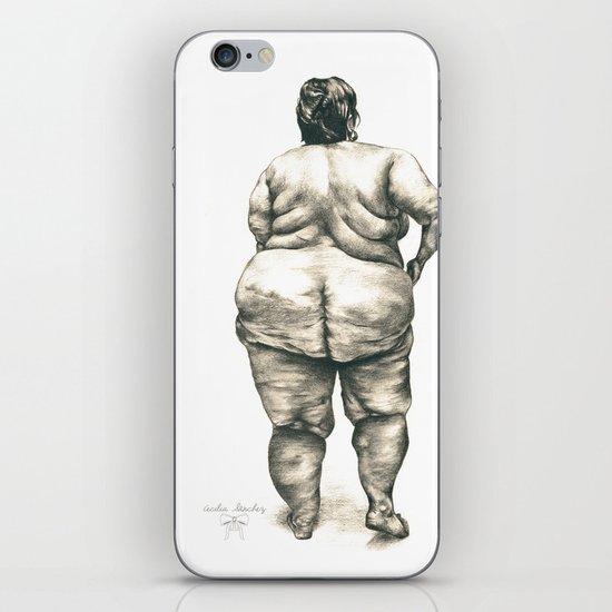 mujer en la ducha iPhone Skin
