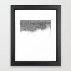 Urban Concrete White Wash Framed Art Print