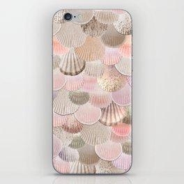 MERMAID SHELLS - CORAL ROSEGOLD iPhone Skin