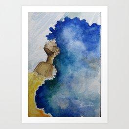 Flowing Crown Art Print