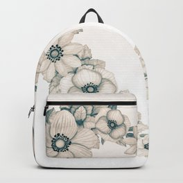 Flowery Sepia Heart Wreath Backpack
