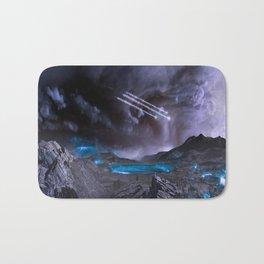 Extraterrestrial Landscape : Galaxy Planet Bath Mat