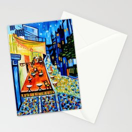 Cafe Terrace - Homage to Van Gogh Stationery Cards