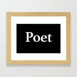 Poet inverse Framed Art Print