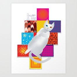 Smudges Le Patch Art Print